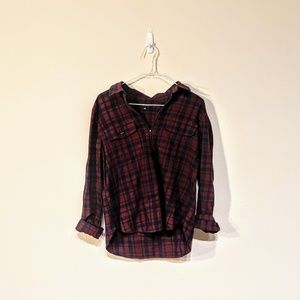 Madewell red and blue flannel size L